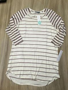 """Loveappella McCally raglan. Love a classic stripe, and it's laid-back enough for a """"mom at home"""" day."""