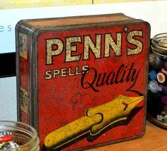 Penn's ink nibs tin
