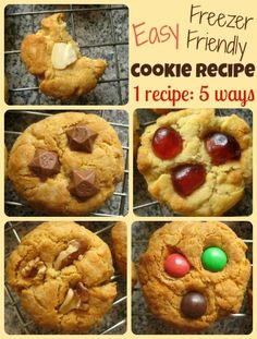 "{Easy cookie recipe: freezer friendly} Want to have ""fresh"" cookies prepped for the kids for after school the first few days? Check out this great recipe from @Cathy James @ NurtureStore"