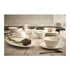 IKEA - VARDAGEN, Serveringsskål, Enkelt og tidløst porcelæn i en traditionel stil med bløde, runde former og fokus på alle detaljer danner en smuk ramme om maden på bordet.Små dele kan stables inden i store dele fra den samme serie, så du sparer plads, når de ikke er i brug