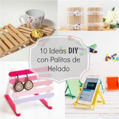 10 ideas DIY para hacer con palitos de helado - Guía de MANUALIDADES