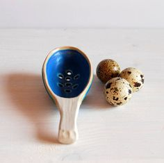 Olive spoon Strainer spoon Ceramic spoon with holes Ceramic