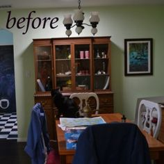 Distressed Painted Furniture Project: My Antique Breakfront China Hutch