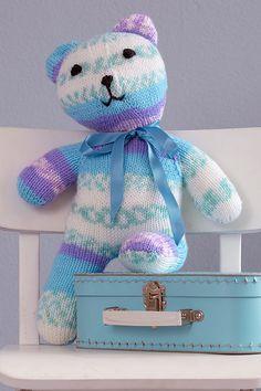 Teddy Bear Knitting Patterns- In the Loop Knitting Knitting Patterns Free Dog, Teddy Bear Knitting Pattern, Free Baby Patterns, Crochet Toys Patterns, Stuffed Toys Patterns, Free Knitting, Knitting Ideas, Free Pattern, Mittens Pattern