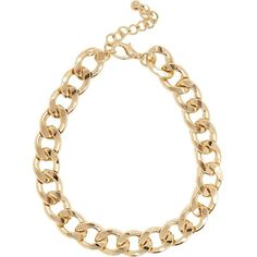 River Island Gold tone chunky curb chain necklace (165 ARS) ❤ liked on Polyvore featuring jewelry, necklaces, accessories, collares, gold tone collar necklace, chunky curb chain necklace, curb link chain necklace, chunky necklace and gold tone jewelry
