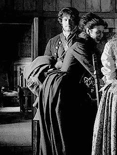 Look at the way his eyes follow her...#Outlander #Claire #Jamie