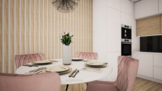 Interior design of a dining room in Bratislava in #scandinaviandesign by @avedesign.sk / Návrh dizajnu obývačky v 2-izbovom byte v Bratislave v škandinávskom style od #avedesign / #interiordesign #interierovydesign #interior123 #navrhinterieru #interiorarchitecture #interiorarchitect #interiordesigner #interiors #interiorstyle #interiordesignideas #vizualizacia #slovenskydesign #interierovydizajnslovensko #obyvacka #bytovydizajn #dizajnslovensko #interior123 #interior_delux #interiorinspiration Scandinavian Interior Design, Scandinavian Style, Table Settings, Dining Room, Curtains, Home Decor, Blinds, Decoration Home, Room Decor