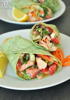 Salmon Wraps with Homemade Feta Vinaigrette - Peas & Crayons – ENJI Daily