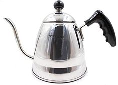 LOCK LOCK Pour Over Coffee Tea Kettle Ergonomic Designed Drip Pot Gooseneck Narrow Spout Stainless Steel 12 Cups ** To view further for this item, visit the image link. (This is an affiliate link) Pour Over Coffee, Perfect Cup, Cookware, Kettle, Coffee Cups, Image Link, Copper, Stainless Steel, Tea