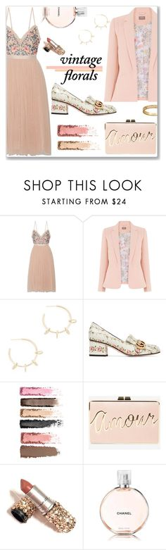 """Vintage Florals"" by j477 ❤ liked on Polyvore featuring Needle & Thread, Justine Clenquet, Gucci, BCBGMAXAZRIA, Chanel, vintage, contest, polyvorecommunity and vintageflorals"