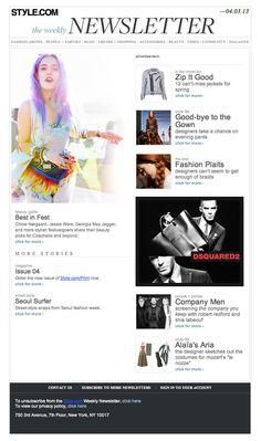 Style.com Newsletter