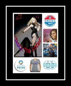 """""""Madonna ~ Rock The Vote!!""""  *** Vote 4 #OBAMA2012 *** :)"""