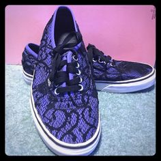 Purple Lace Vans Absolutely No Trades. Please Do Not Lowball, As It Is Not Fair To Me. No Advertising In My Closet.  ⭐️Please Make All Offers Using The Offer Button, As I Do Not Wish To Make Negotiations In The Comments Section. Vans Shoes Sneakers