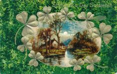 Patrick's Day Postcard, Visual Studies Collection, Library of Virginia. Golden Age, St Patrick, Postcards, Virginia, Scrapbooking, Day, Painting, Image, Collection
