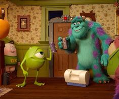 Monsters inc discovered by IHeart It on We Heart It Cute Disney Characters, Fictional Characters, Monsters Inc University, Mike And Sully, We Heart It, Cartoons, Lost, Tumblr, Wallpaper