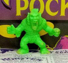 Monster in my Pocket - 24 Windigo - Neon Green. My Pocket, Neon Green, Dinosaur Stuffed Animal, Ebay