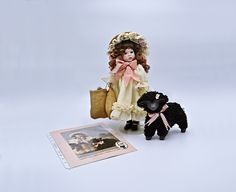 First Edition Baa Baa Black Sheep Doll Wendy Lawton Collector's Guild Doll Baa Baa Black Sheep, Cream Color Dress, Photo Tree, Glass Paperweights, The Collector, Vintage Art, Dolls, Mothers, Easter