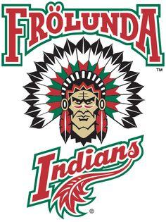 logo of the Frölunda Indians, a hockey team in Sweden.