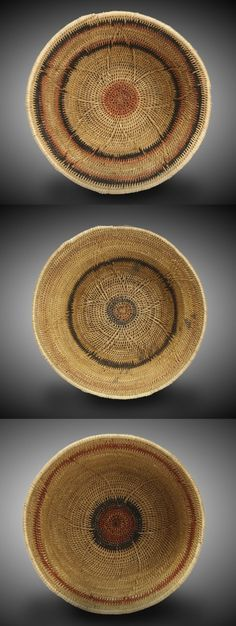 Southern Africa | Makenge baskets from Zambia. Made from grass and used to store flour and food. Top, Middle and Bottom baskets