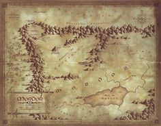 Map of Mordor | by Daniel Reeve