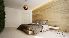 Master bedroom with double layer floors on the wall