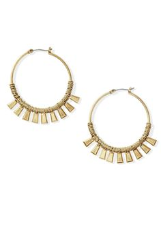 Hot Summer Fashion That Won't Burn Your Budget: These make a messy bun seem effortlessly chic. Earrings, $34; stelladot.com.
