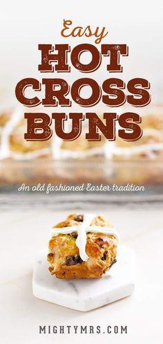 Easy Hot Cross Buns