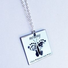 Hey, I found this really awesome Etsy listing at https://www.etsy.com/listing/175213661/custom-footprint-or-handprint-necklace