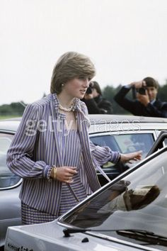 1981 06 16 Princess Diana attends Royal Ascot with Prince Charles and later watches him play polo at Smith's Lawn