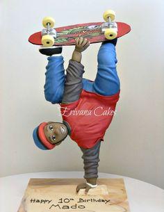 Gravity Defying Structure, Skateboarder cake - Cake by erivana ...
