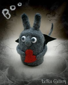 Monster needle felted. Soft sculpture. Art doll. by LeRuGallery