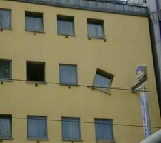 This tilted window. | 21 Design Fails That Will Make You Feel Better About Your Own Home