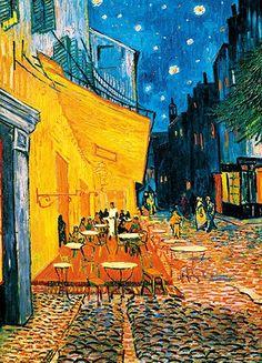 Fotobehang Idealdecor 00420 Terrasse de Café la Nuit