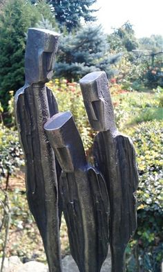 People - handmade steel sculpture