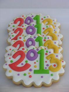 Galleta Decorada de Feliz Año 2013