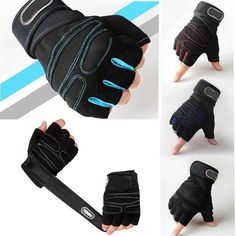 Breathable Weight Lifting Gym Half Fingers Gloves Wrist Wrap Workout Exercise
