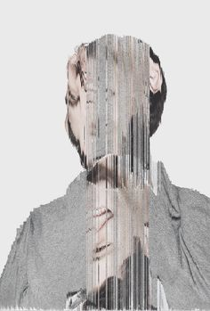 Creative Glitch, Inspiration, Board, Design, and Graphic image ideas & inspiration on Designspiration Glitch Art, Glitch Kunst, Collage Kunst, Collage Art, Collage Portrait, Man Portrait, Photomontage, Ernesto Artillo, Collage