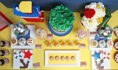 Little Sailorman Popeye Party Dessert Table