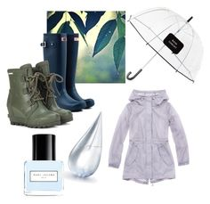 """Rain delay"" by mwellman-1 on Polyvore featuring Hunter, Marc New York, SOREL, Marc Jacobs, La Prairie and Kate Spade"