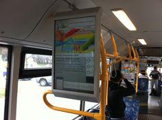 Ljubljana - Digital signage In bus