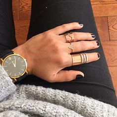 Gold For Jewelry Making 1 Gram Gold Jewellery, Gold Jewelry, Larsson And Jennings Watch, Black Nails, Michael Kors Watch, Ring Designs, Jewelry Design, Jewelry Making, Rose Gold