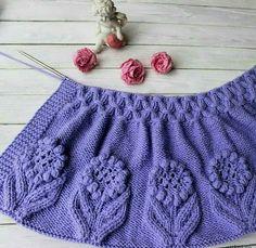 Cardigan for girls örgü Kids Knitting Patterns, Easy Knitting Patterns, Knitting For Kids, Crochet For Kids, Lace Knitting, Knitting Stitches, Knitting Designs, Knit Crochet, Crochet Baby Jacket