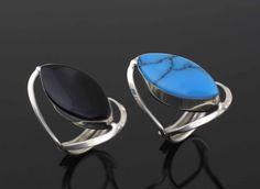 Onix Ring Sterling Silver Reversible Woman Ring by Alyssasdreams