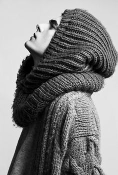Knit Inspiration: Unknown. Brioche, cables, greatness!