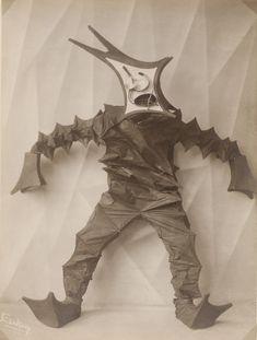 "Lavinia Schulz and Walter Holdt, dance costume for ""Springvieh"" (1924). Photo by Minya Diez-Dührkoop, black and white positive on silver gelatin paper. Collection Museum für Kunst und Gewerbe Hamburg (MKG) (photo and costume)."