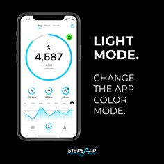 Have you ever changed the look of the app? Just go to the settings 📱⚙️ and switch between Dark and Light. How do you like it? 🌈  #StepsApp #NewUpdate #DarkLight #Settings #PersonalisedApp #Stepcounter #Everystepcounts #Schrittzähler #iOS14 #AppWidget #HealthyApp #Sports #FitnessApp #ActivityApp #MovingApp #GesundheitsApp #LetsGO Apple Watch Fitness, Track Your Steps, Apple Health, App Share, Gps Tracking, Do You Like It, Design Language