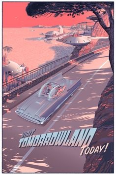 """WOW, this is amazing, as usual! """"Visit Tomorrowland Today!"""" Art Print by Laurent Durieux"""