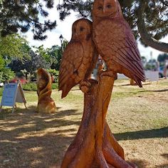 """2011 Chain Saw Carving Contest Winner. Every year on July  1st weekend there is a chain saw carving contest and amid the sawdust and roar of the saws one can see the """"Transformations on the Shore"""" as the contest is called."""