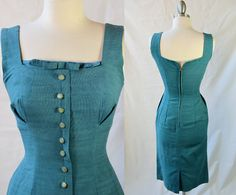 - The Secretary Had Extra Wiggle - Mad Men- Vintage 50's/60's BOMBSHELL Pin-up Kitten Dress by RedLightVintageShop