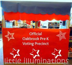 little illuminations: Election Day in Pre-K Preschool Classroom, Preschool Ideas, Teaching Ideas, Apple School, Election Day, Kindergarten Writing, Writing Process, Dramatic Play, European History